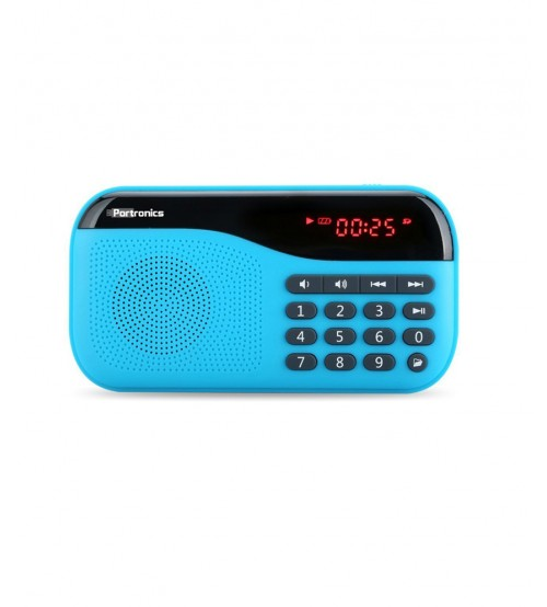 Portronics Plug POR 142 Portable Speaker With FM, Blue